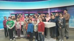 Uczniowie w TVP Katowice