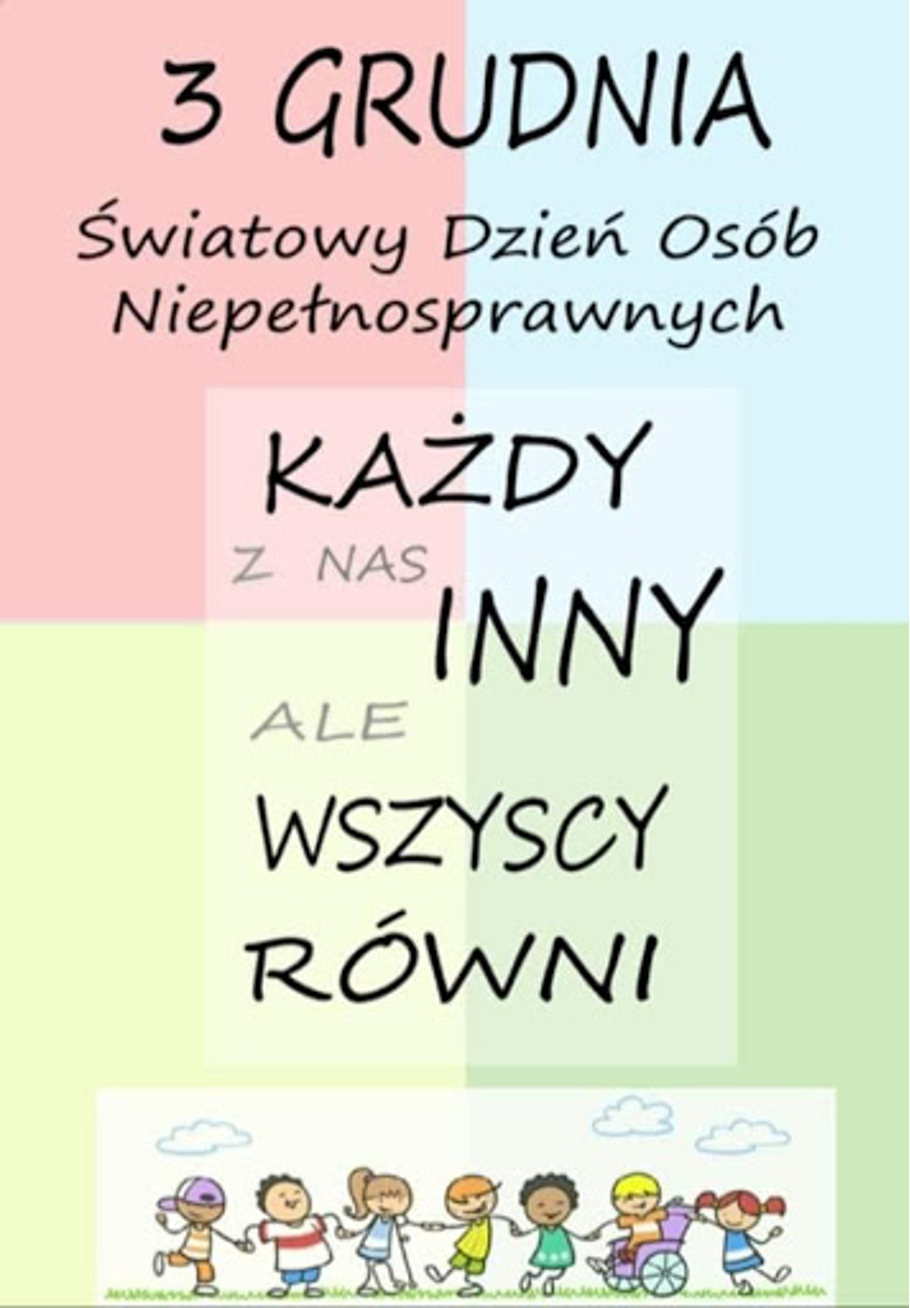 plakat Dzień Osób Niepełnosprawnych
