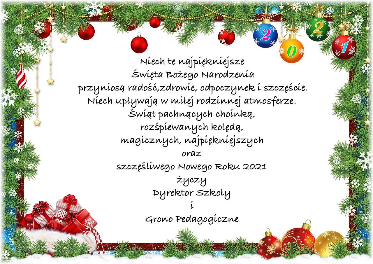 świąteczne życzenia
