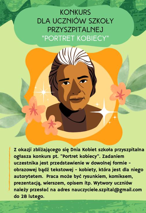 "Plakat na konkurs ""Portret kobiety"""